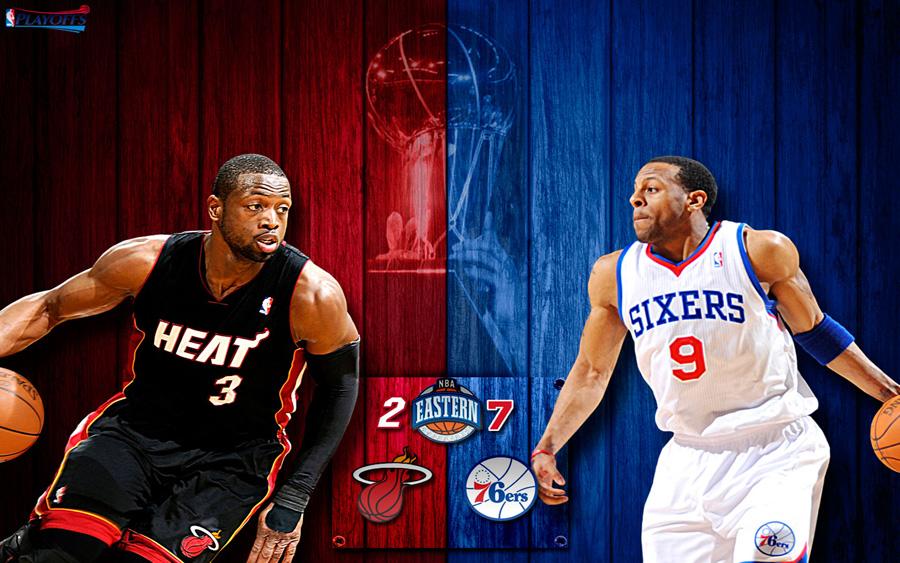 Heat vs 76ers 2011 NBA Playoffs Widescreen Wallpaper