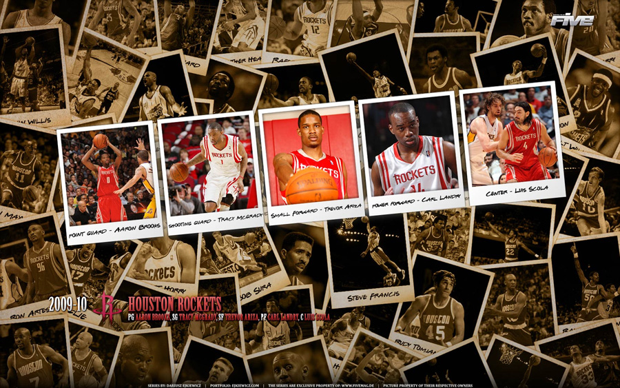 Houston Rockets 2010 Widescreen Wallpaper