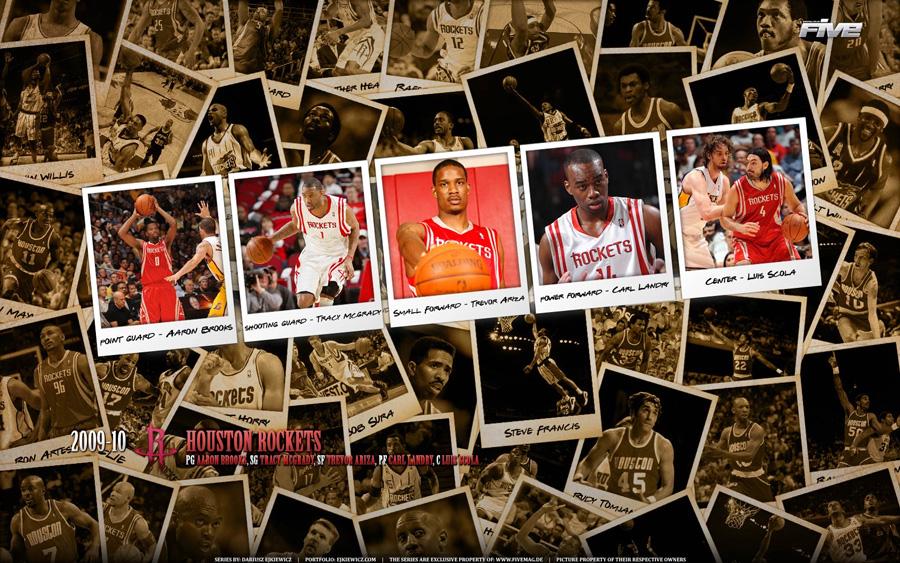 Houston Rockets 2010 Widescreen Wallpaper