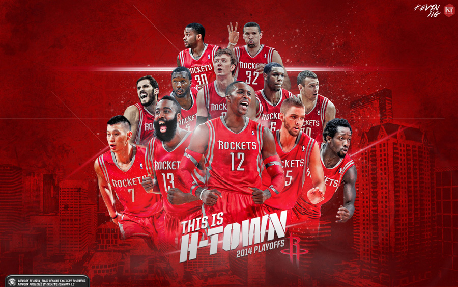 Houston Rockets 2014 NBA Playoffs Wallpaper