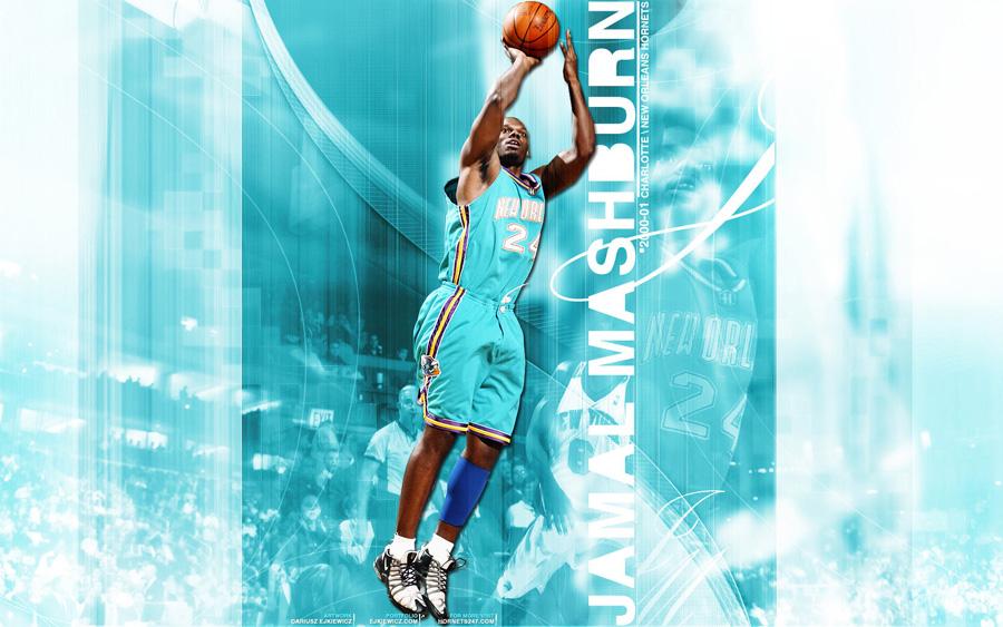 Jamal Mashburn Hornets Widescreen Wallpaper