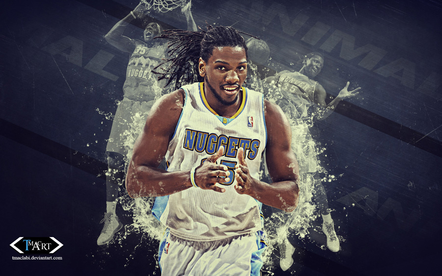 Kenneth Faried Nuggets 2014 1680x1050 Wallpaper
