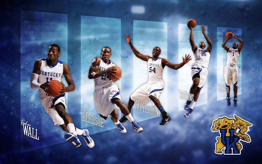 Kentucky Wildcats 2010 Starting 5 Wallpaper