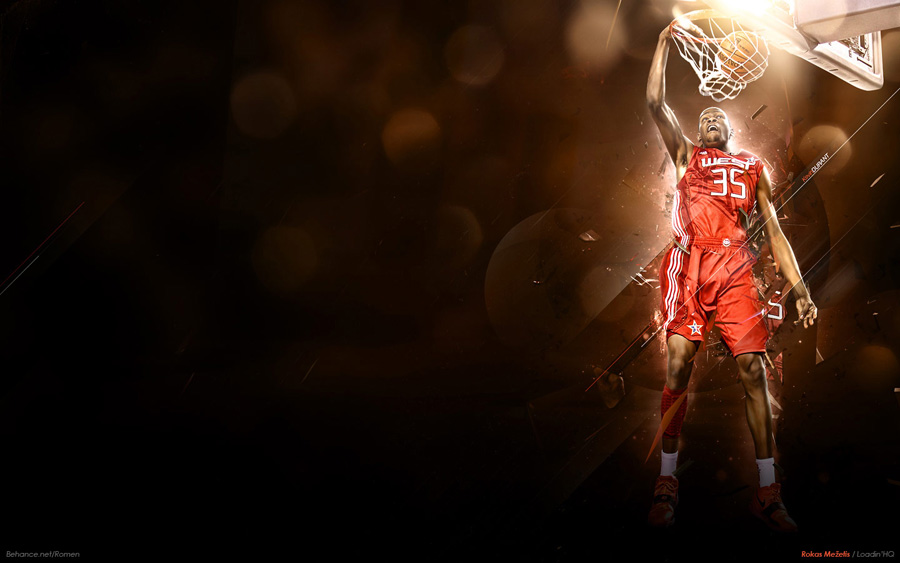 Kevin Durant Slam Dunk Widescreen Wallpaper