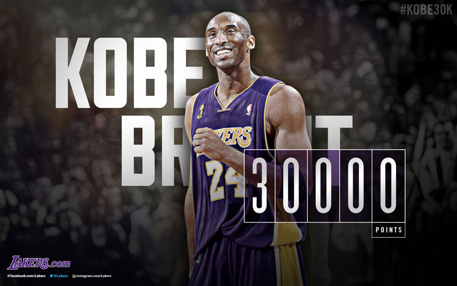 Kobe Bryant 30000 Points 1920x1200 Wallpaper