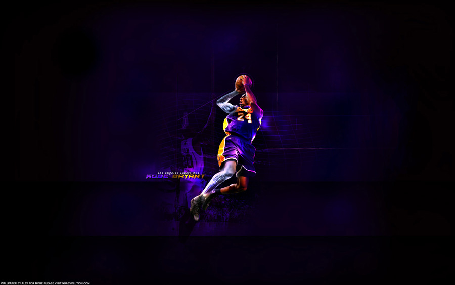 Kobe Bryant Fade Away Widescreen Wallpaper