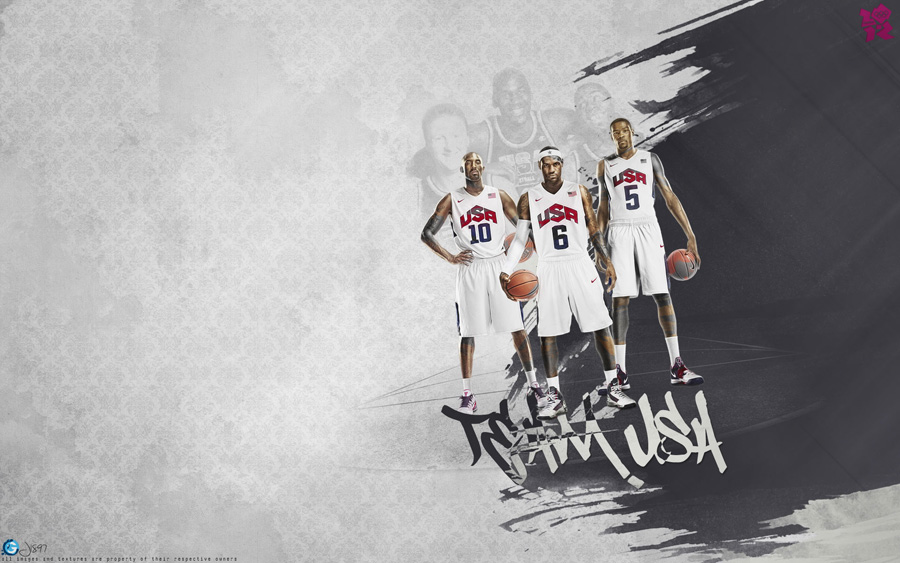 Kobe LeBron Durant 2012 USA Dream Team Wallpaper