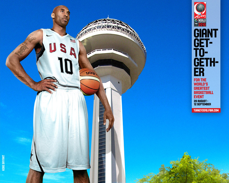 Kobe Bryant USA FIBA World Championship 2010 Wallpaper