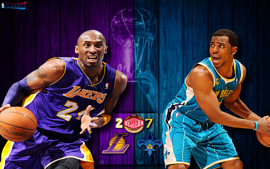 Lakers vs Hornets 2011 NBA Playoffs Widescreen Wallpaper