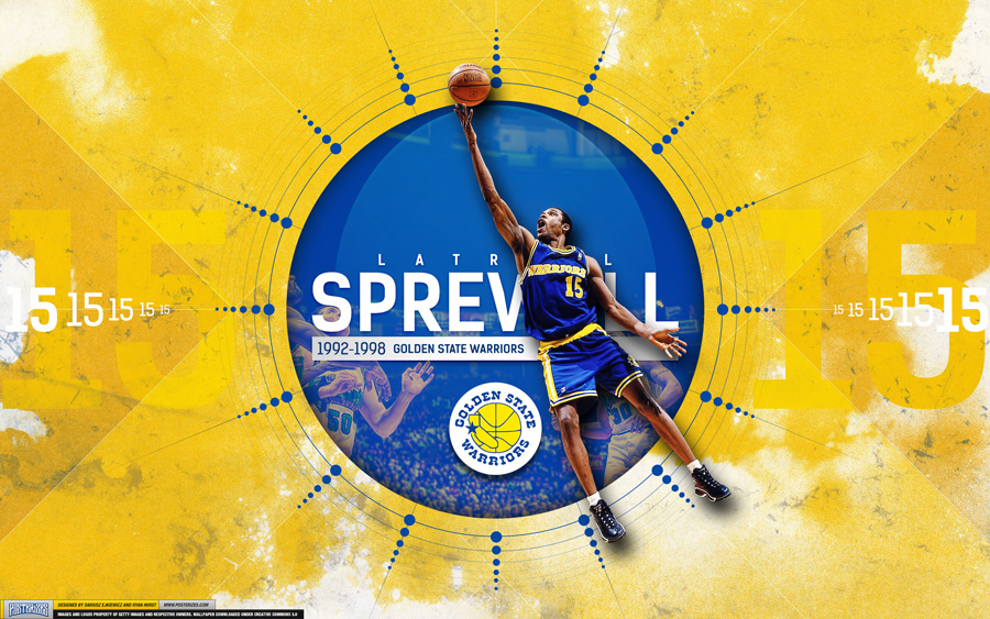 Latrell Sprewell Warriors 2880x1800 Wallpaper