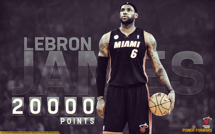 LeBron James 20000 Points 1920x1200 Wallpaper