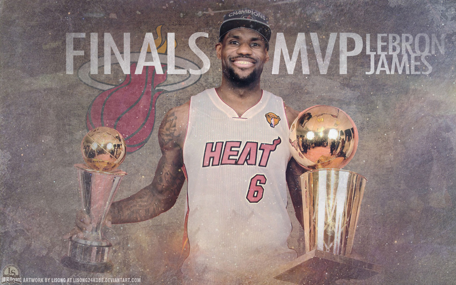 LeBron James 2012 NBA Finals Trophies Wallpaper