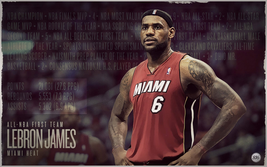 LeBron James 2013 All-NBA First Team 1920x1200 Wallpaper