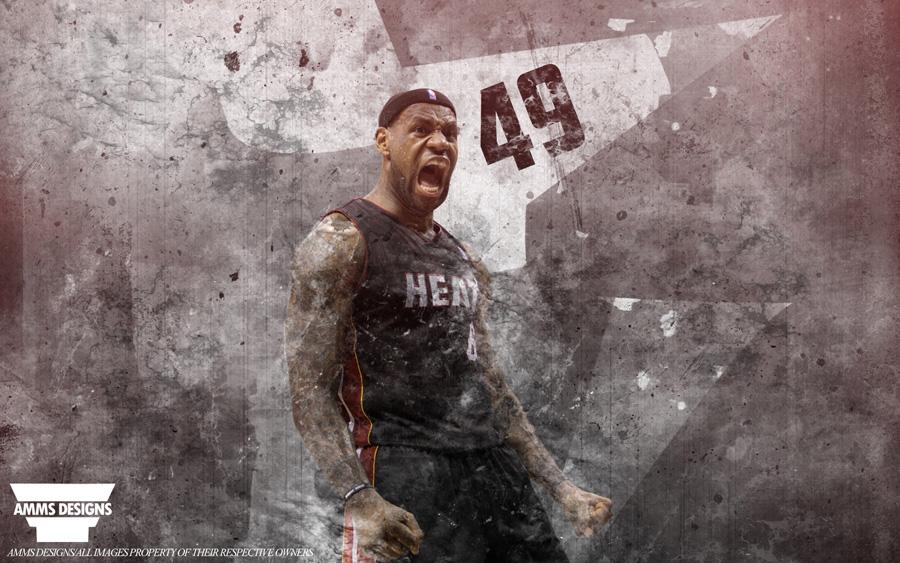 LeBron James 49 Points 2014 NBA Playoffs Wallpaper