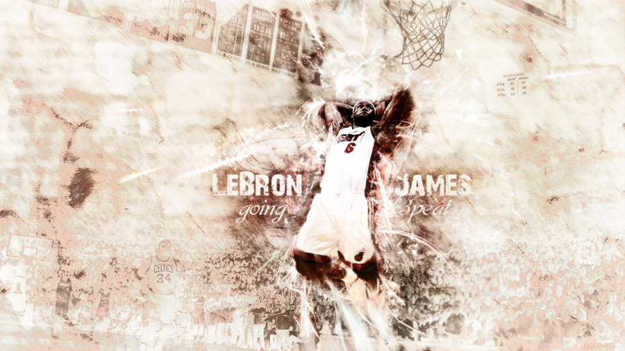 LeBron James Chasing 3peat Wallpaper
