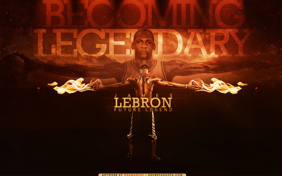 LeBron James Future Legend Widescreen Wallpaper