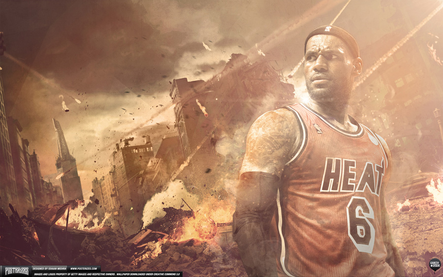 LeBron King James Heat 2560x1600 Wallpaper