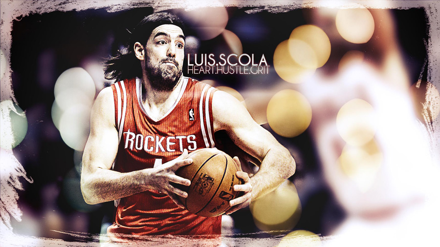 Luis Scola 1920x1080 Rockets Wallpaper