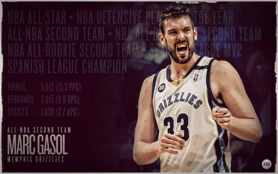 Marc Gasol 2013 All-NBA Second Team 1920x1200 Wallpaper