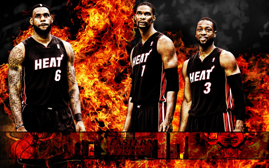Miami Heat 2011 NBA Conference Finals Widescreen Wallpaper