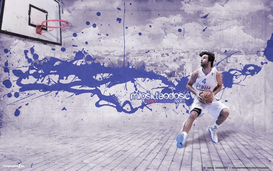 Milos Teodosic Serbia Eurobasket 2011 Wallpaper