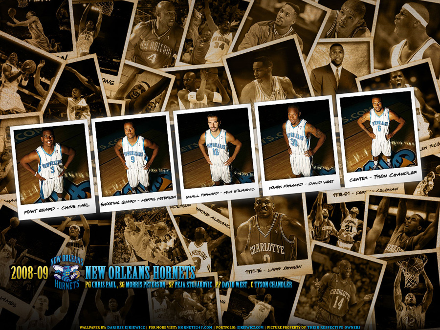 New Orleans Hornets Polaroid 2009 Wallpaper