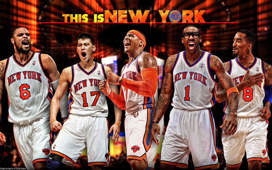 New York Knicks Starting 5 2012 Wallpaper