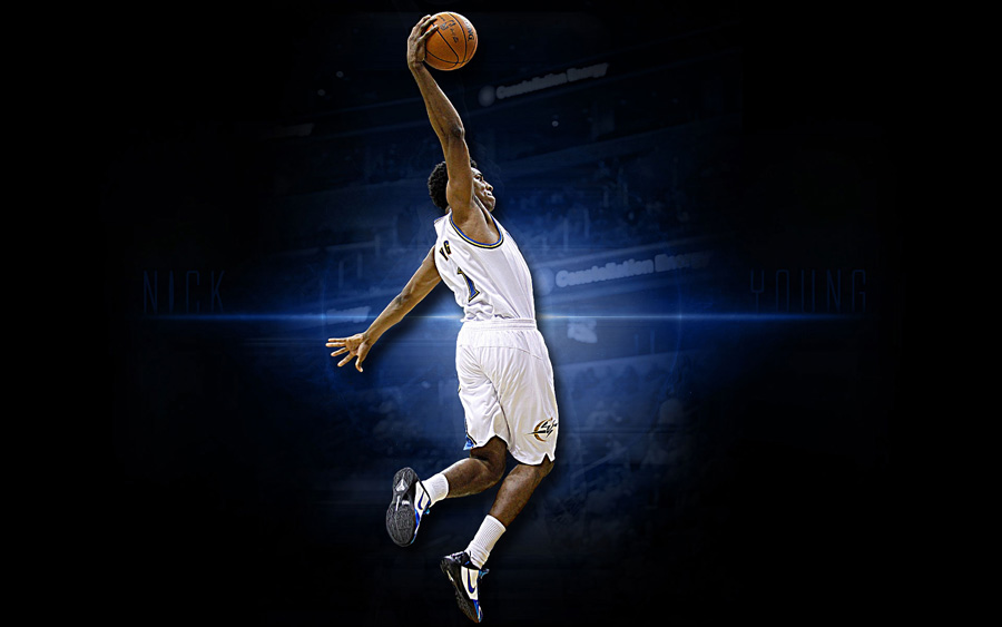 Nick Young Wizards Dunk Widescreen Wallpaper