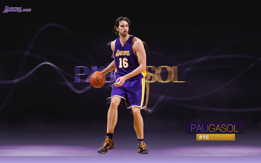 Pau Gasol LA Lakers Widescreen Wallpaper