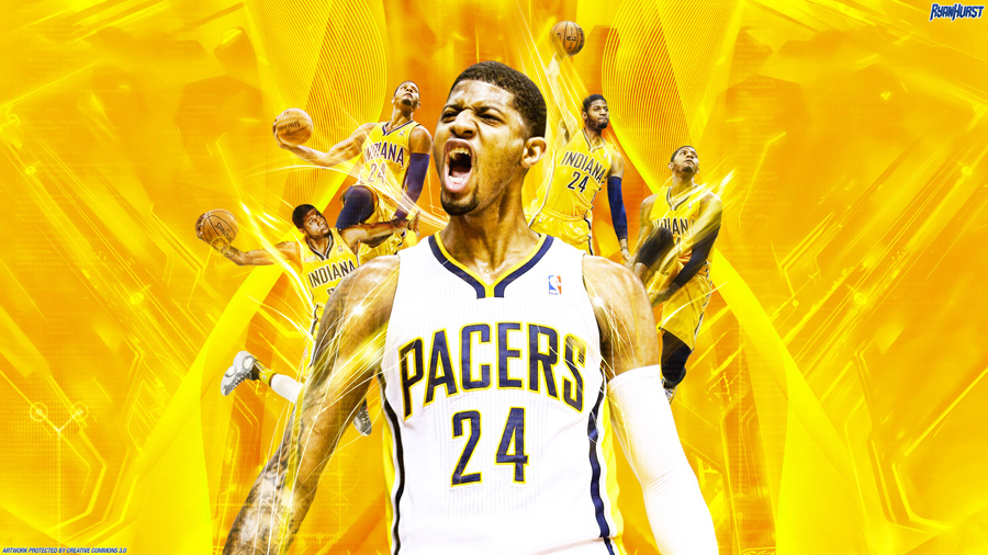 Paul George Indiana Pacers 2560x1440 Wallpaper