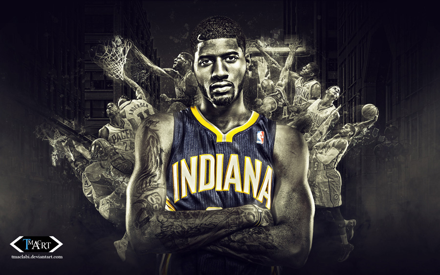 Paul George Pacers Dunks Wallpaper