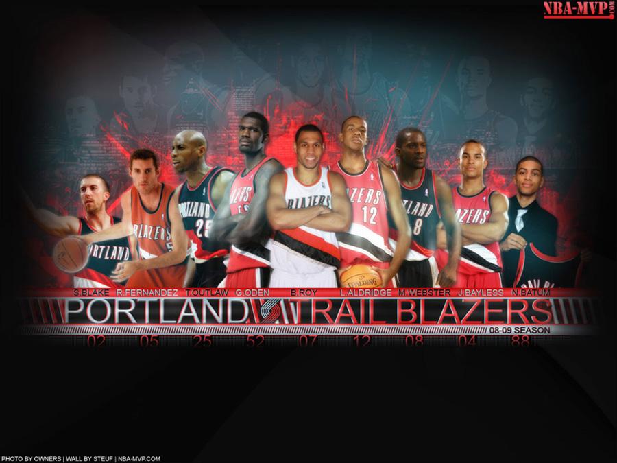 Portland Trailblazers 2008-09 Roster Wallpaper