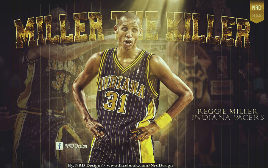 Reggie Miller Pacers Legend 'Miller The Killer' 1920x1200 Wallpaper
