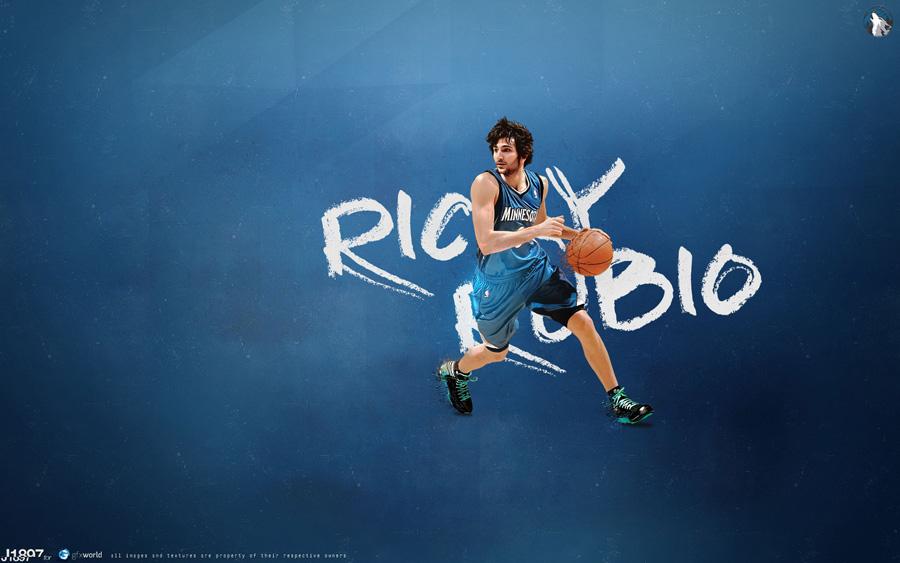 Ricky Rubio Timberwolves 1920x1200 Wallpaper