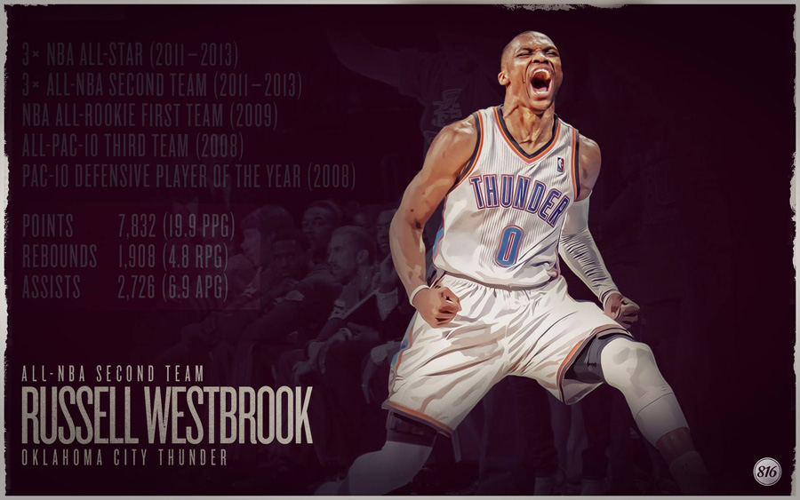 Russell Westbrook 2013 All-NBA Second Team 1920x1200 Wallpaper