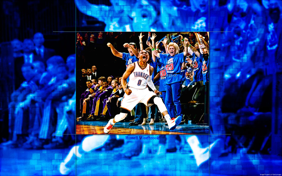 Russell Westbrook 2nd Round Game 5 Wallpaper
