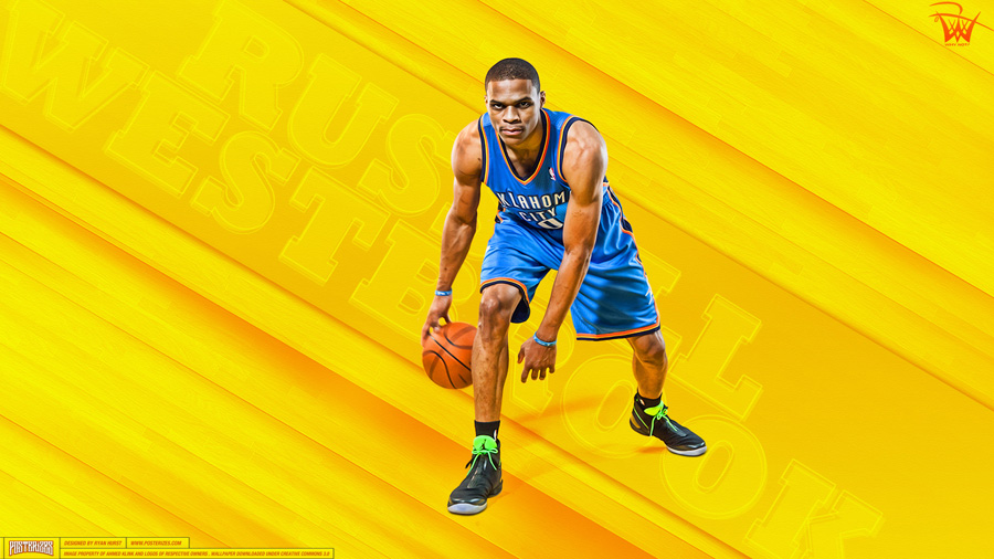 Russell Westbrook Thunder 2013 2560x1440 Wallpaper