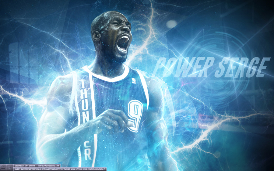 Serge Ibaka OKC Thunder 2014 Wallpaper