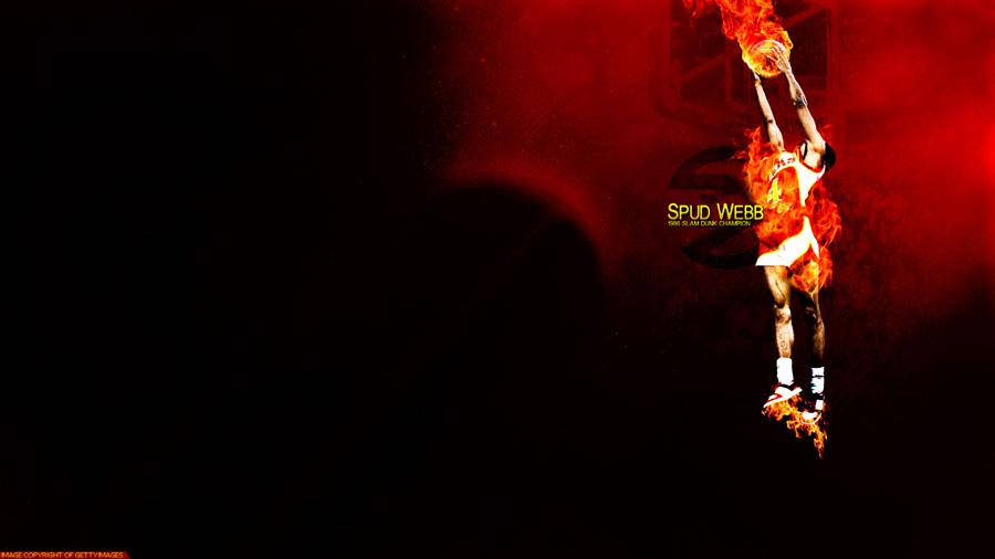 Spud Webb Hawks Dunk 1920x1080 Wallpaper