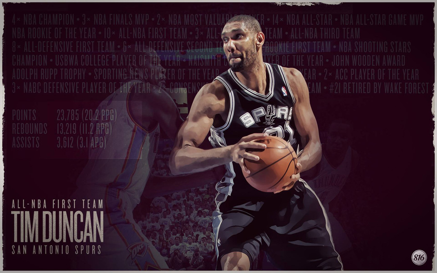 Tim Duncan 2013 All-NBA First Team 1920x1200 Wallpaper