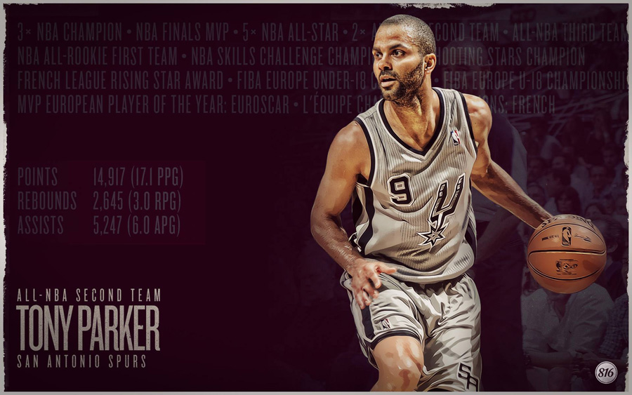 Tony Parker 2013 All-NBA Second Team 1920x1200 Wallpaper