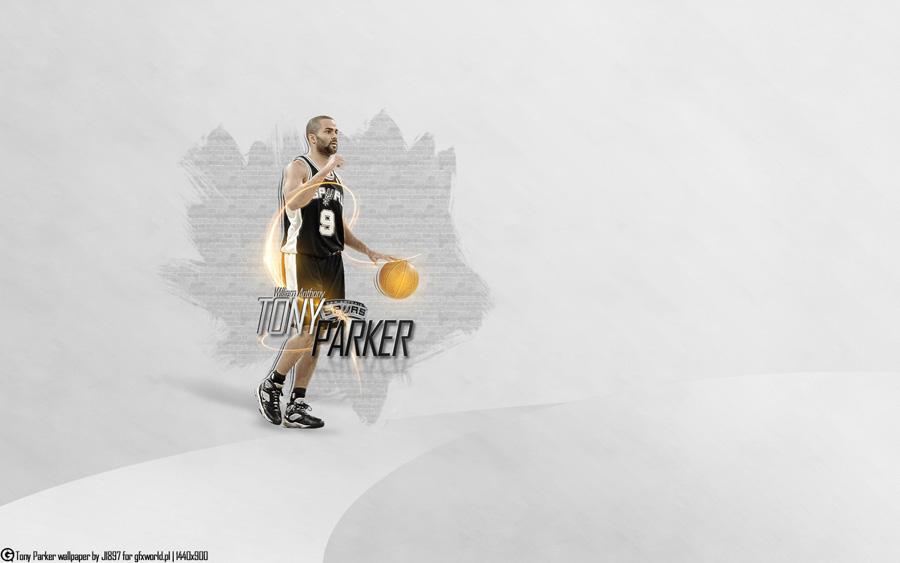 Tony Parker San Antonio Spurs Widescreen Wallpaper