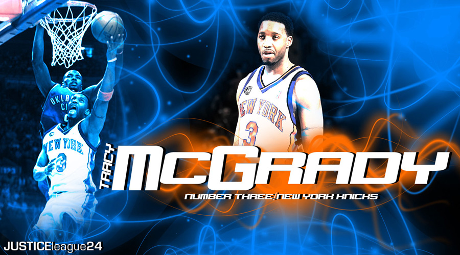 Tracy McGrady Knicks Widescreen Wallpaper