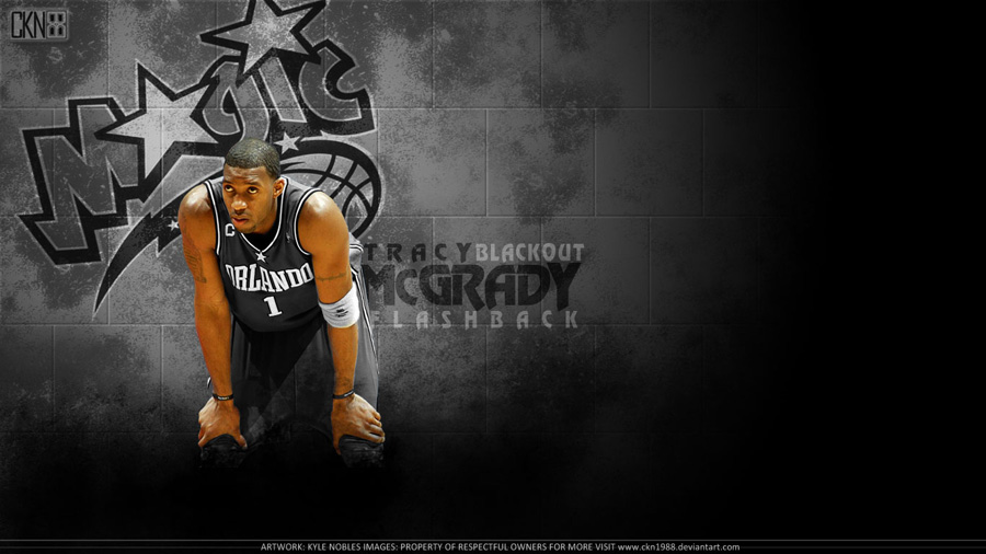 Tracy McGrady Orlando Magic Flashback Wallpaper