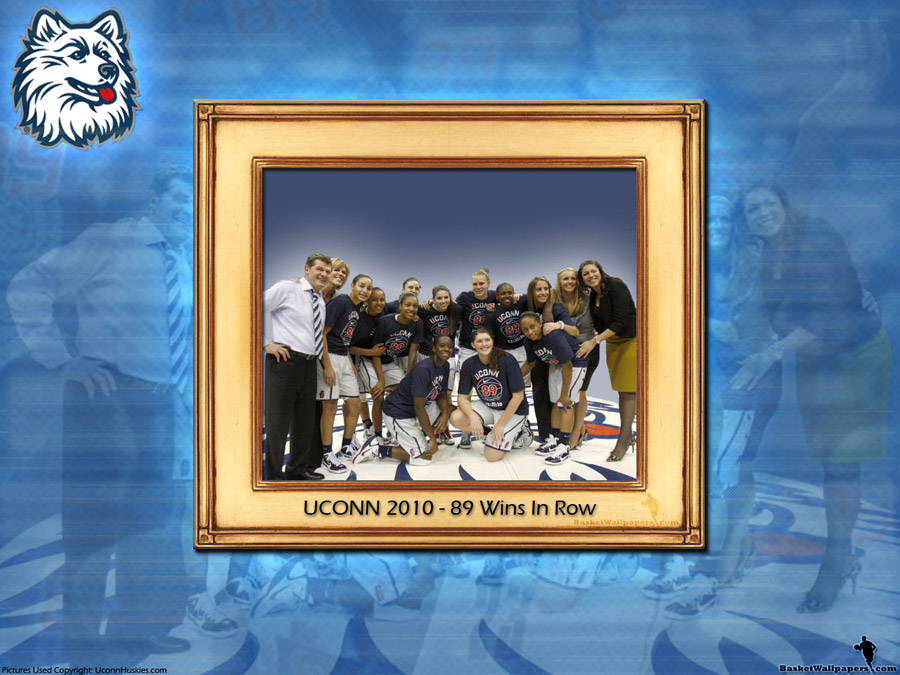 UCONN Huskies Women 89 Wins In Row Wallpaper