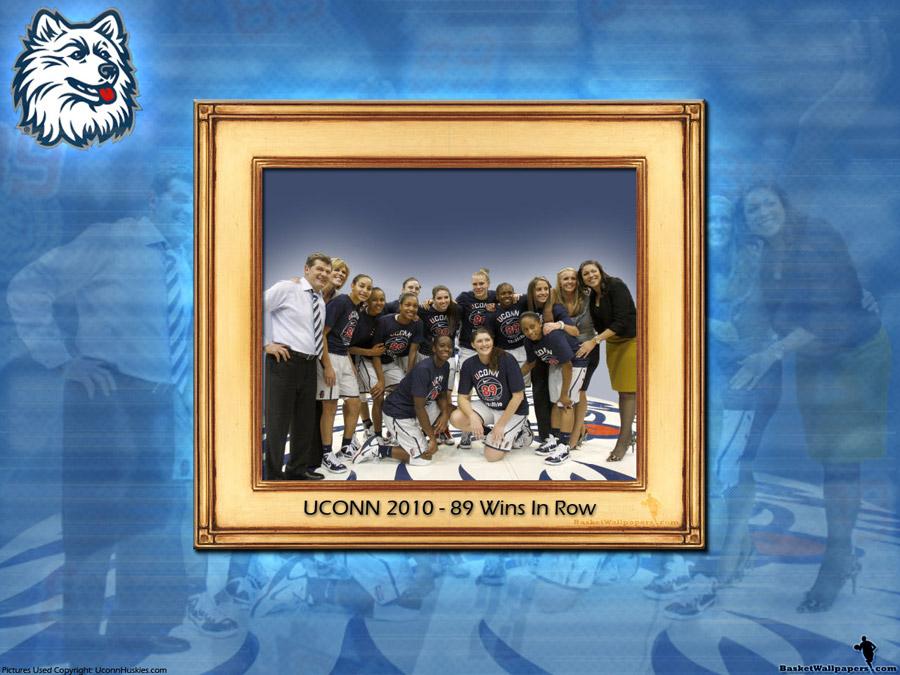 UCONN Huskies Women 89 Wins In Row Wallpaper