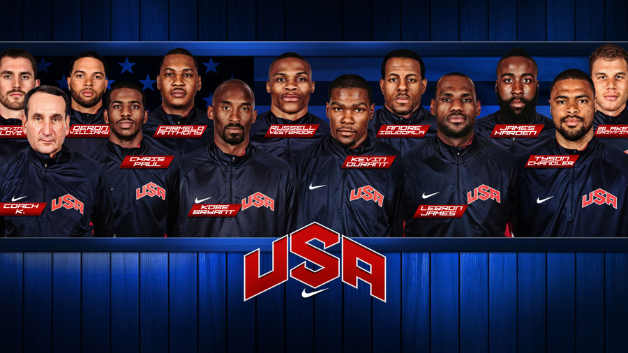 USA Dream Team 2012 Roster 2560x1440 Wallpaper