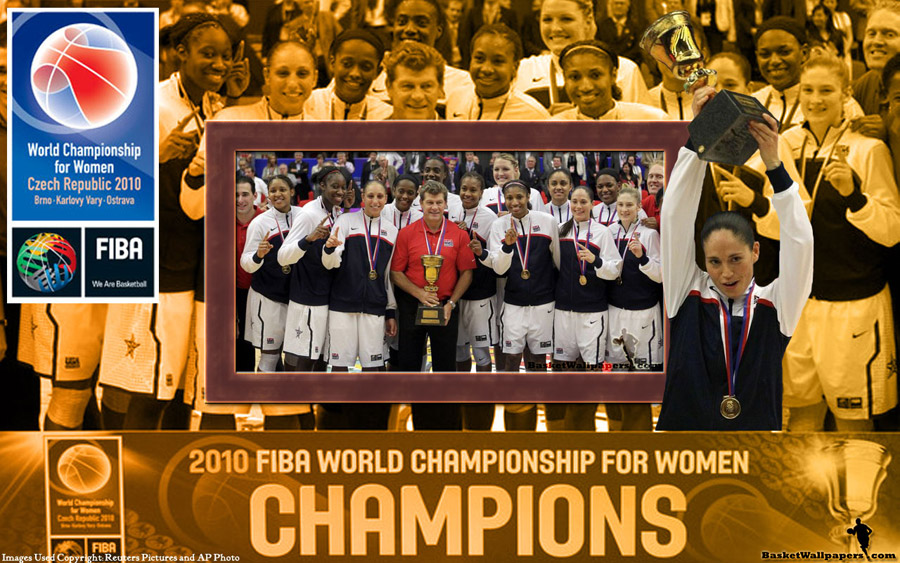 USA FIBA Women World Championship 2010 Gold Medal Wallpaper