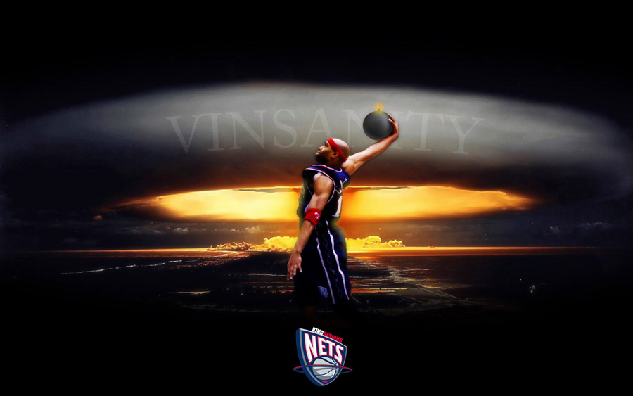 Vince Carter Nets Widescreen Wallpaper