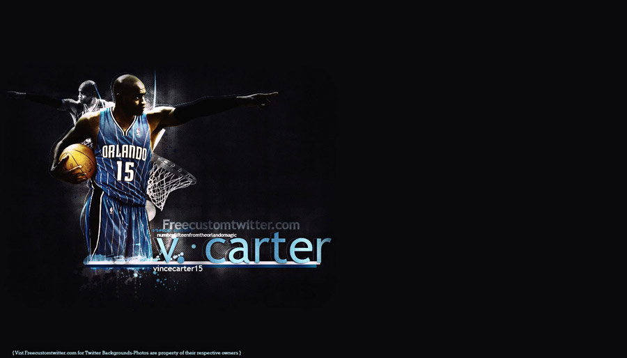 Vince Carter Orlando Magic Widescreen Wallpaper